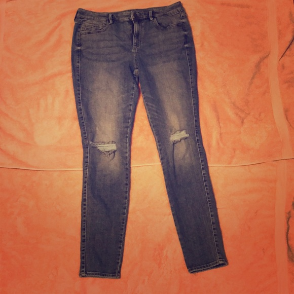 a.n.a Denim - a.n.a. LOT of 2 Skinny Jeans Size 12 Ripped Knee